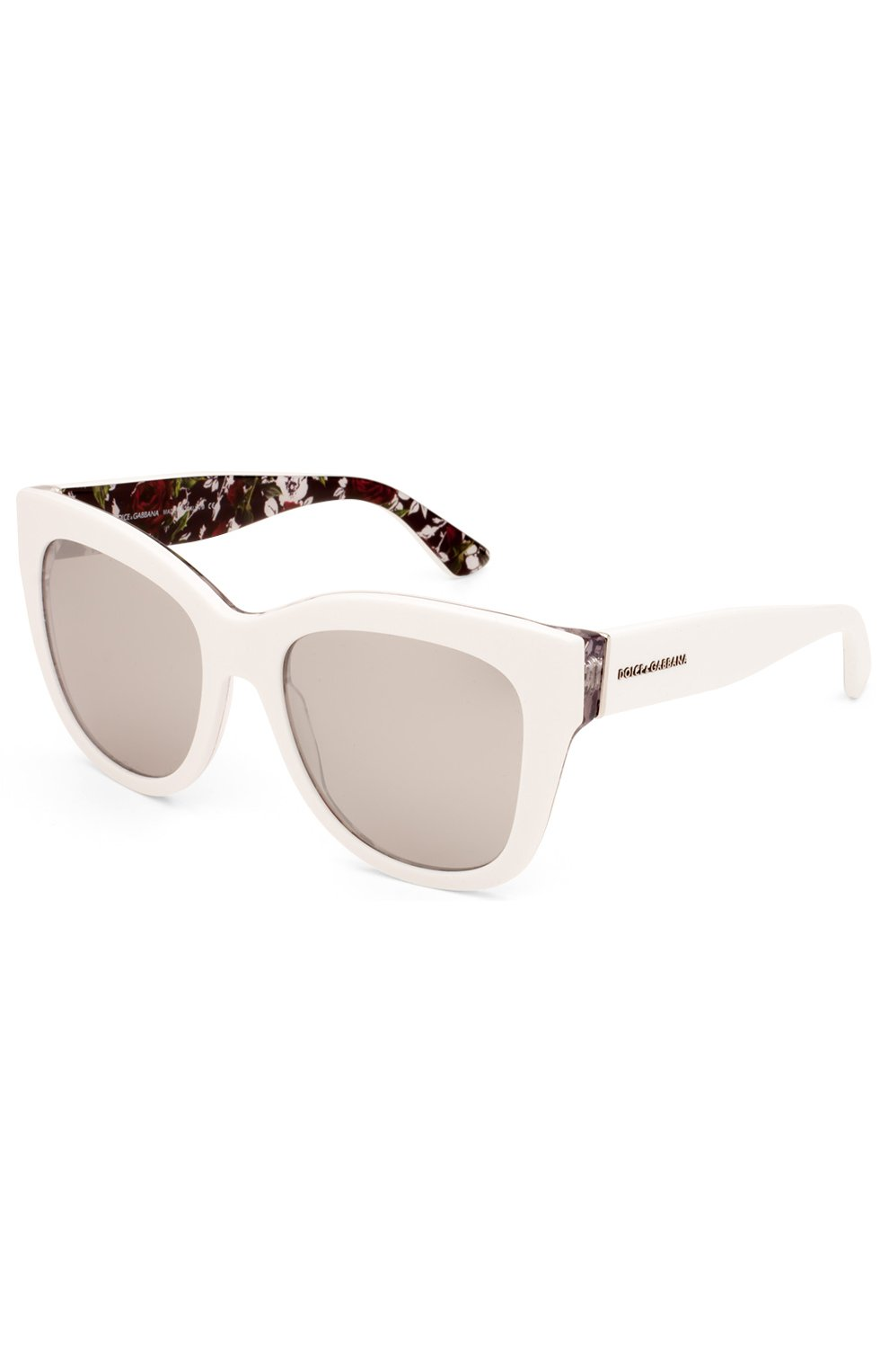 Женские солнцезащитные очки DOLCE & GABBANA белого цвета, арт. 4270-30236G | Фото 2