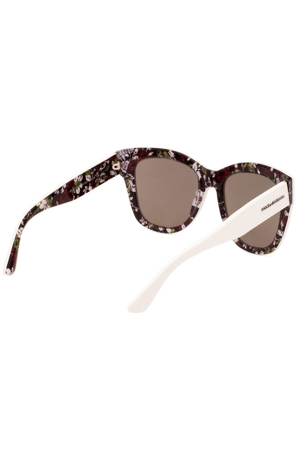Женские солнцезащитные очки DOLCE & GABBANA белого цвета, арт. 4270-30236G | Фото 3