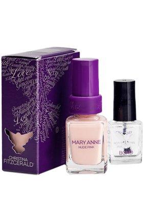"Лак для ногтей ""Телесно розовый"" MARY ANNE Nude Pink + BOND | Фото №1"