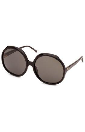 Женские солнцезащитные очки LINDA FARROW черного цвета, арт. LFL417C1 SUN   Фото 2
