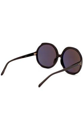 Женские солнцезащитные очки LINDA FARROW черного цвета, арт. LFL417C1 SUN   Фото 3