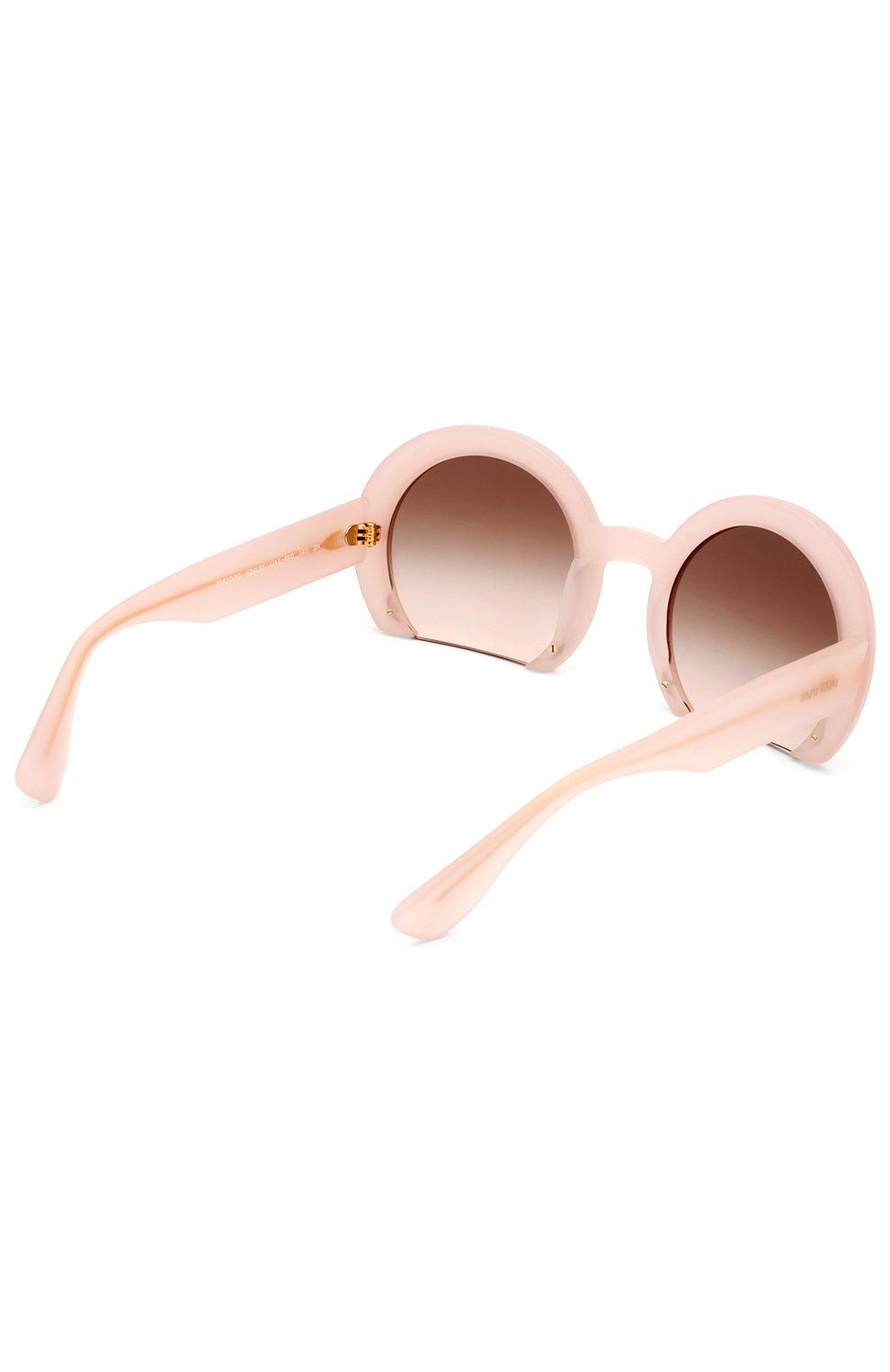 Женские солнцезащитные очки MIU MIU розового цвета, арт. 07QS-UAE4K0 | Фото 3