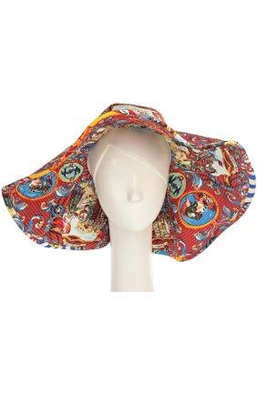 Широкополая шляпа с принтом Caretto Siciliano | Фото №1