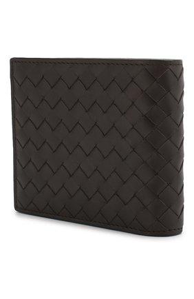 Мужской кожаное портмоне BOTTEGA VENETA темно-коричневого цвета, арт. 113993/V4651   Фото 2