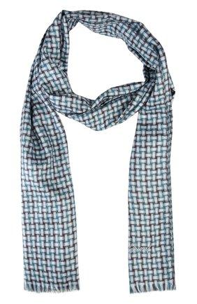 Мужской шарф BRIONI бирюзового цвета, арт. 03RC/P548J   Фото 1