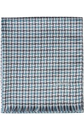 Мужской шарф BRIONI бирюзового цвета, арт. 03RC/P548J   Фото 2