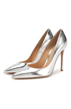 Туфли Gianvito 105 из металлизированной кожи   Фото №1