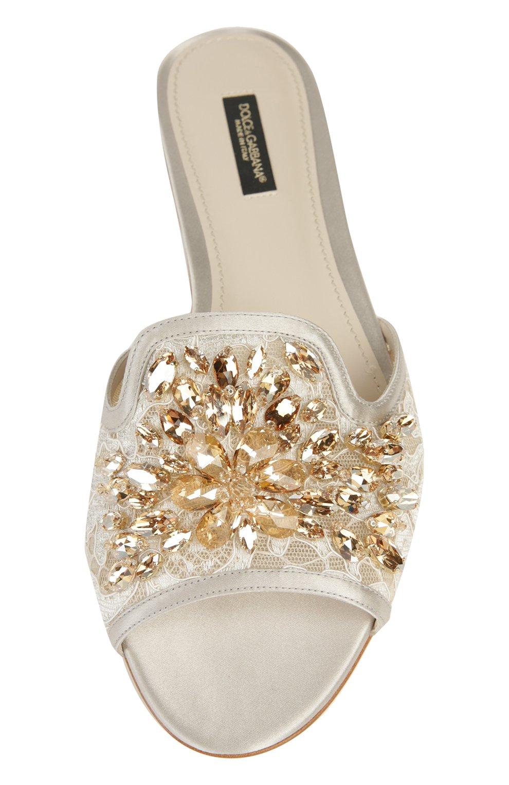Кружевные шлепанцы Bianca с кристаллами   Фото №4