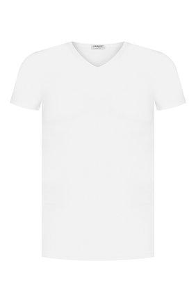 Мужская футболка из смеси хлопка и вискозы ZIMMERLI белого цвета, арт. 186/1422 | Фото 1