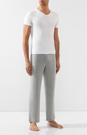 Мужская футболка из смеси хлопка и вискозы ZIMMERLI белого цвета, арт. 186/1422 | Фото 2