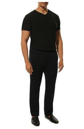 Мужская футболка из смеси хлопка и вискозы ZIMMERLI черного цвета, арт. 186/1422 | Фото 2