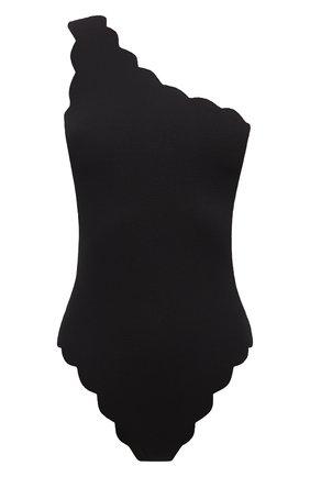 Женский слитный купальник с фестонами MARYSIA черного цвета, арт. S0033 | Фото 1