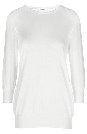 Вязаный свитер malo белый | Фото №1
