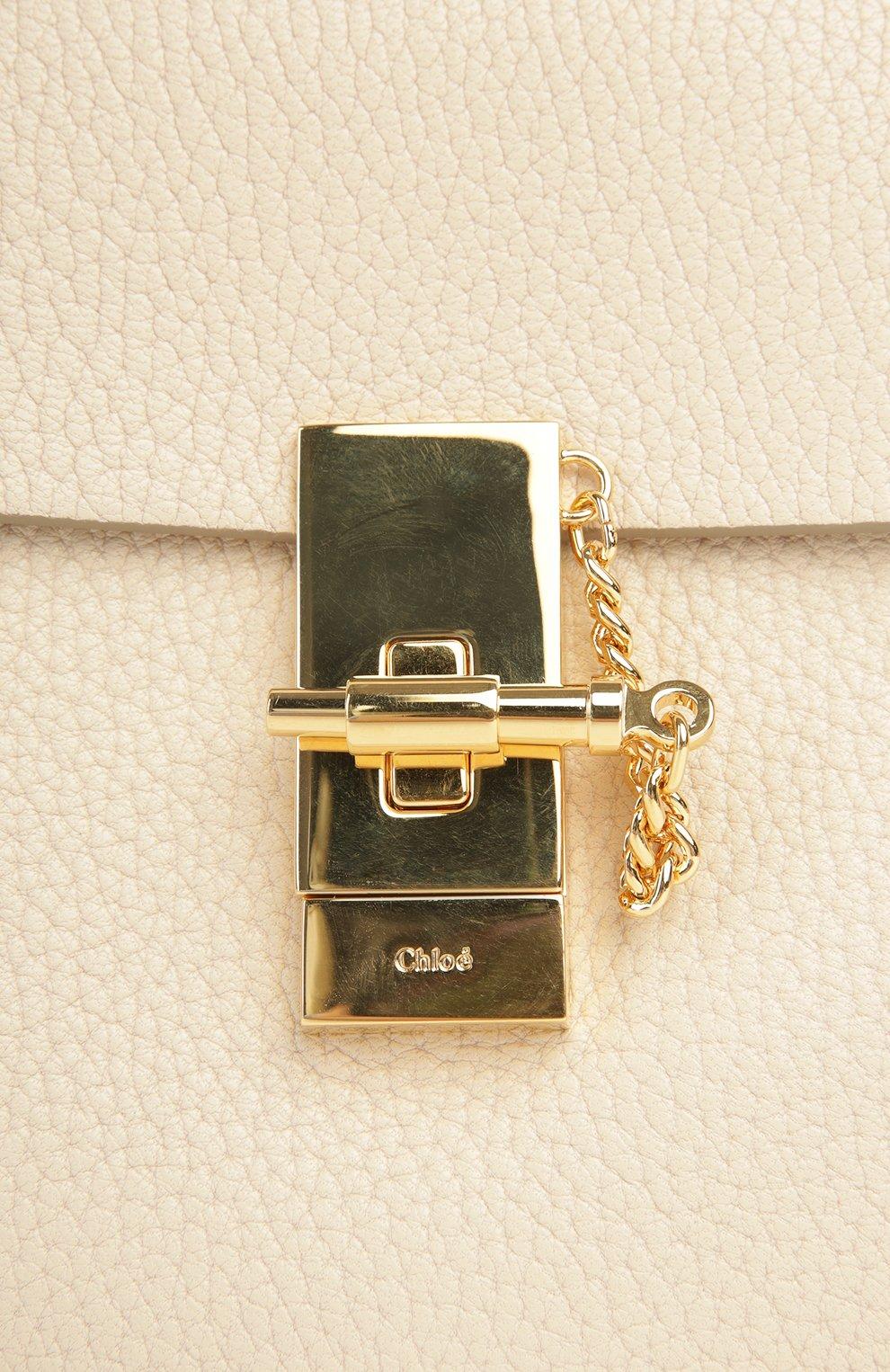 Сумка Drew mini на цепочке Chloé кремовая цвета   Фото №6