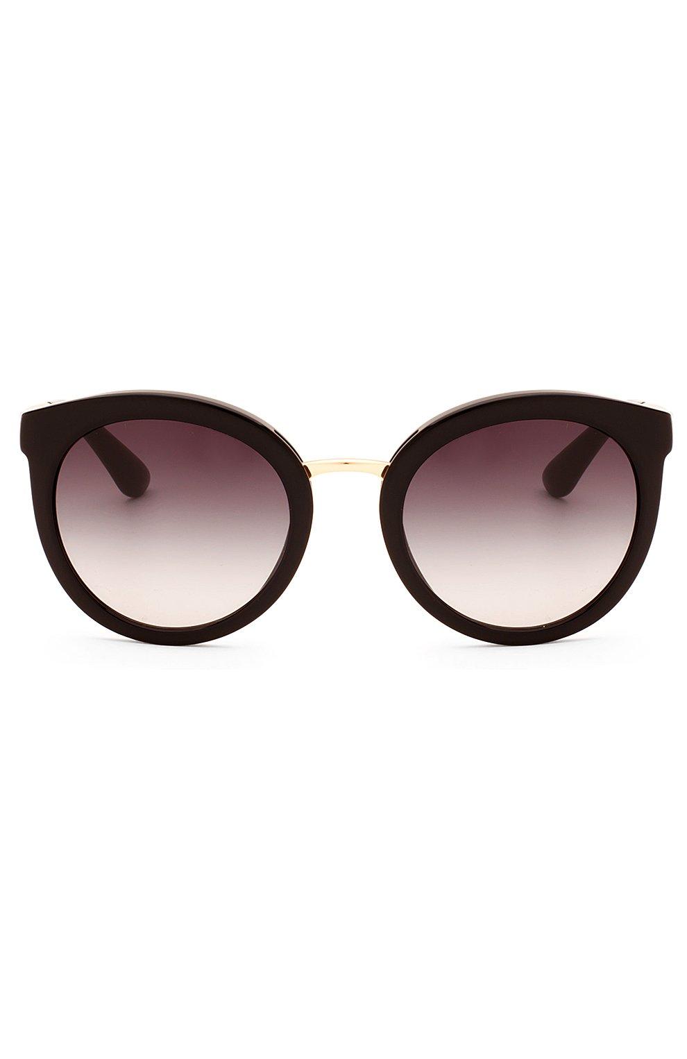 Женские солнцезащитные очки DOLCE & GABBANA черного цвета, арт. 4268-501/8G | Фото 1