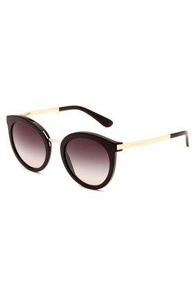 Женские солнцезащитные очки DOLCE & GABBANA черного цвета, арт. 4268-501/8G | Фото 2
