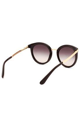 Женские солнцезащитные очки DOLCE & GABBANA черного цвета, арт. 4268-501/8G | Фото 3