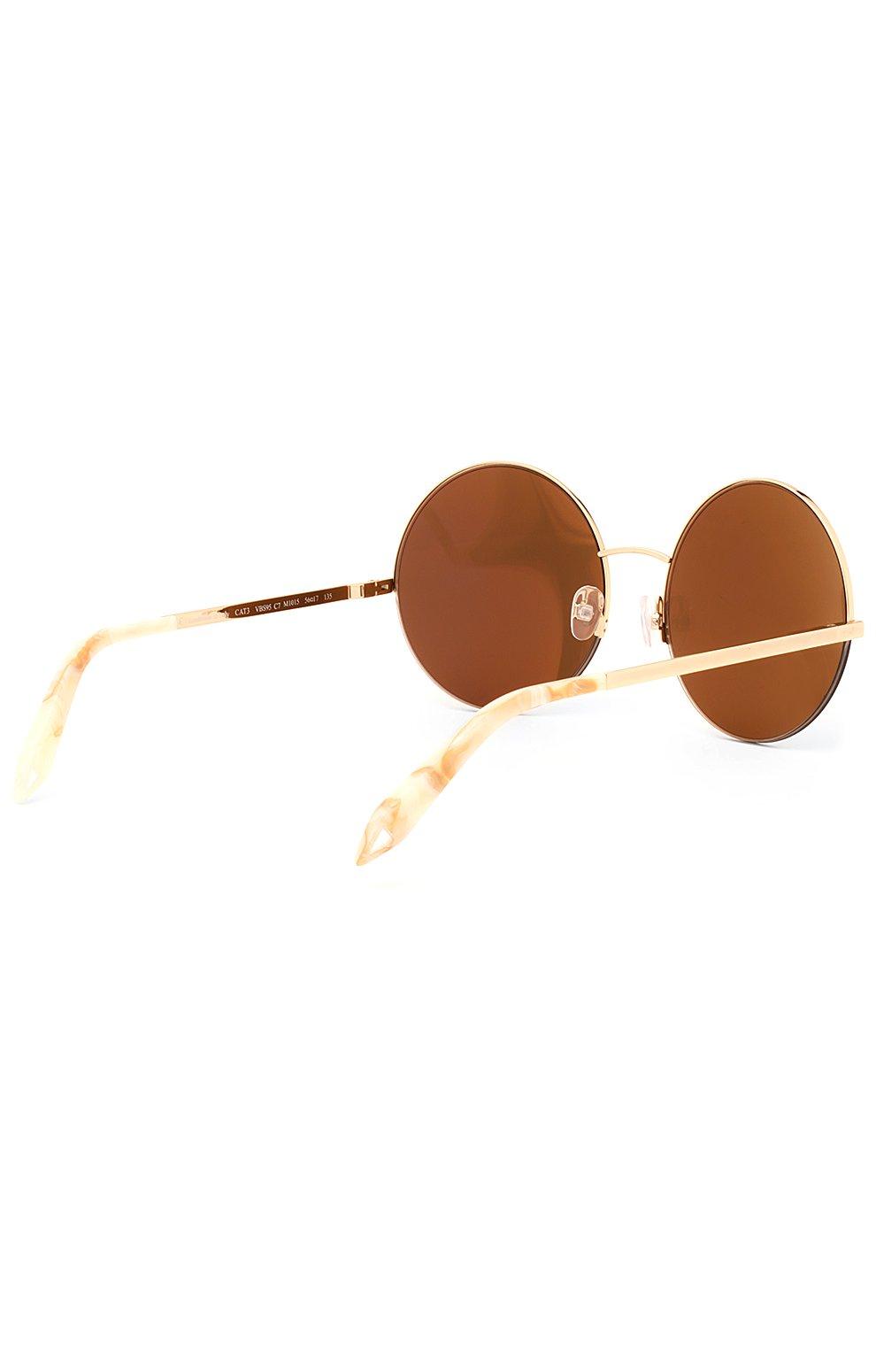 Женские солнцезащитные очки VICTORIA BECKHAM золотого цвета, арт. S95 C07 | Фото 3