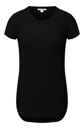 Женская хлопковая футболка JAMES PERSE черного цвета, арт. WUA3037 | Фото 1