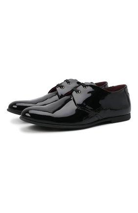 Лаковые туфли на шнуровке | Фото №1
