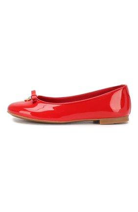 Детские лаковые балетки DOLCE & GABBANA красного цвета, арт. 0132/D10341/A1328/29-36 | Фото 2