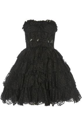 Кружевное платье-бюстье с пышной юбкой   Фото №1