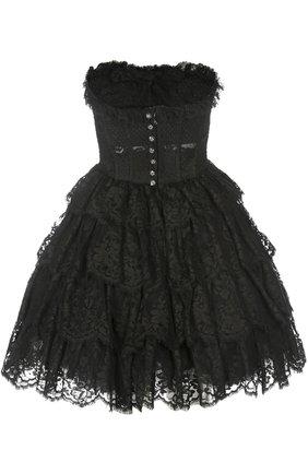 Кружевное платье-бюстье с пышной юбкой   Фото №2