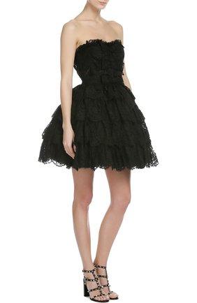 Кружевное платье-бюстье с пышной юбкой   Фото №4