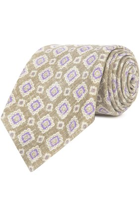 Мужской галстук KITON светло-бежевого цвета, арт. KA/C5D24   Фото 1
