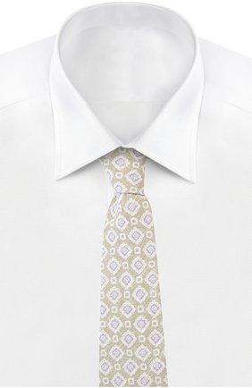 Мужской галстук KITON светло-бежевого цвета, арт. KA/C5D24   Фото 2