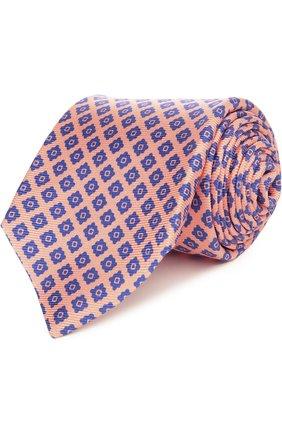 Мужской галстук KITON оранжевого цвета, арт. KA/C5D15 | Фото 1