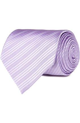 Шелковый фактурный галстук | Фото №1