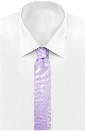 Шелковый фактурный галстук | Фото №2