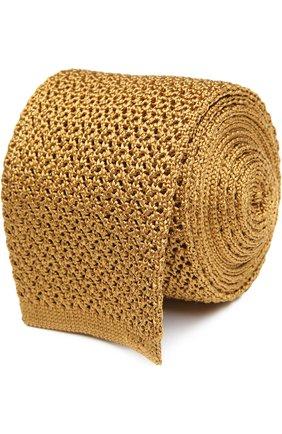 Мужской вязаный галстук TOM FORD золотого цвета, арт. 7TF561MB | Фото 1