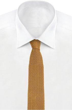 Мужской вязаный галстук TOM FORD золотого цвета, арт. 7TF561MB | Фото 2