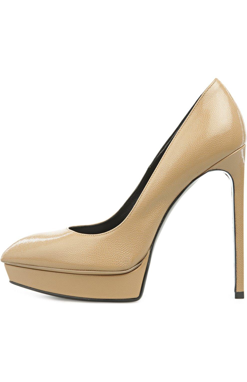 Кожаные туфли Janis на шпильке | Фото №1
