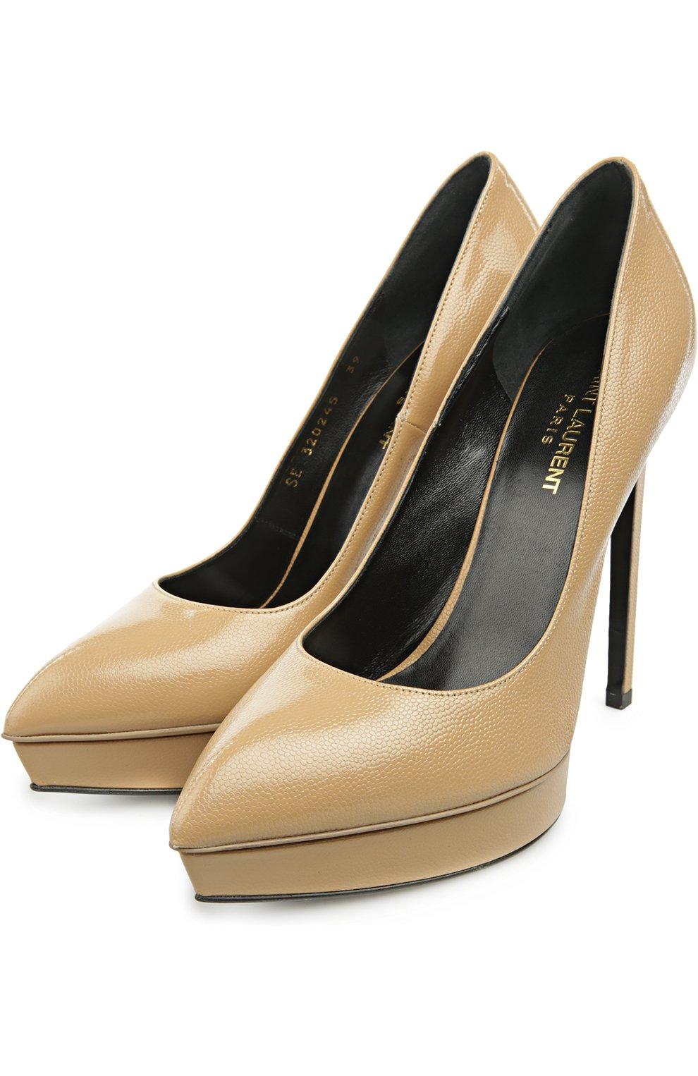 Кожаные туфли Janis на шпильке | Фото №2