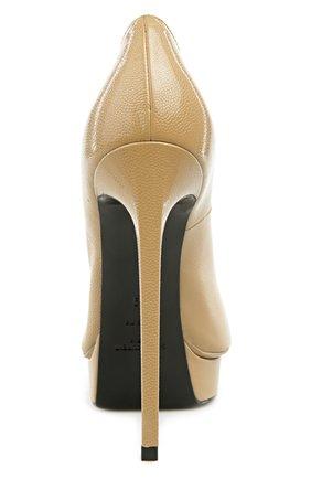 Кожаные туфли Janis на шпильке | Фото №3