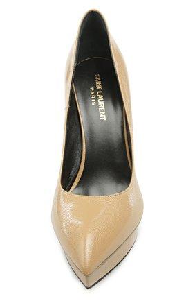 Кожаные туфли Janis на шпильке | Фото №4