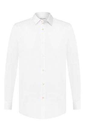 Мужская хлопковая сорочка SAINT LAURENT белого цвета, арт. 376954/YYL16 | Фото 1