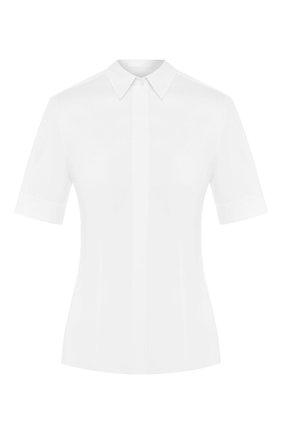 Женская хлопковая рубашка BOSS белого цвета, арт. 50290242 | Фото 1