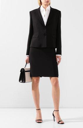 Женский шерстяной жакет BOSS черного цвета, арт. 50291839 | Фото 2
