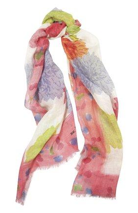 Мужские шарф с принтом KITON розового цвета, арт. D41741/7L81 | Фото 1