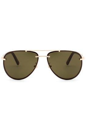 Женские солнцезащитные очки MONTBLANC темно-коричневого цвета, арт. 596 28N   Фото 1