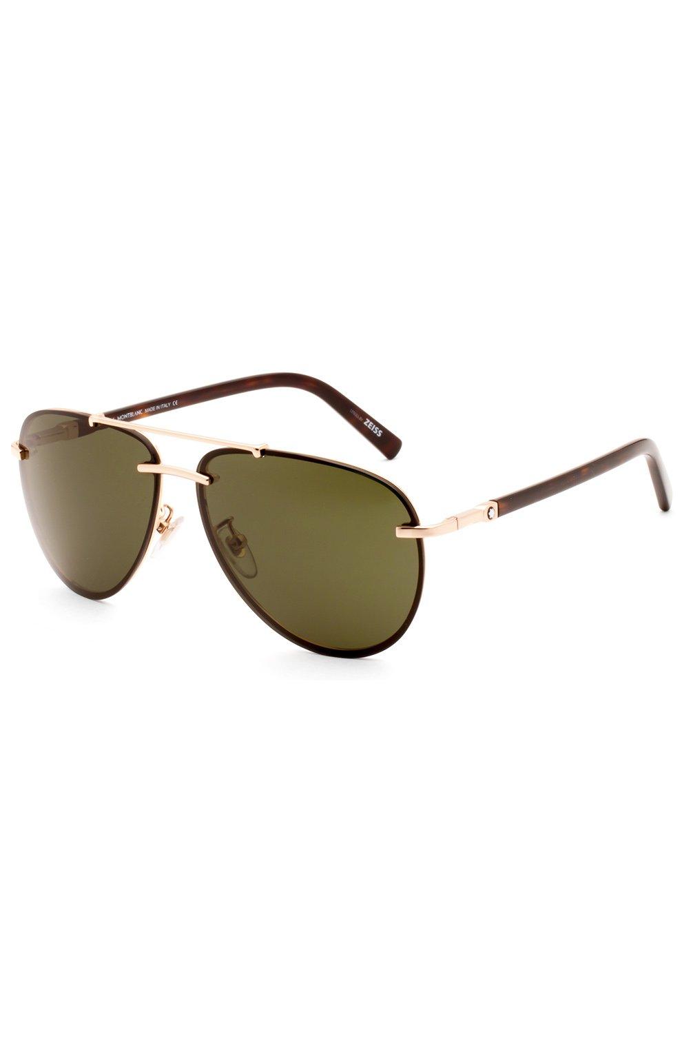 Женские солнцезащитные очки MONTBLANC темно-коричневого цвета, арт. 596 28N   Фото 2