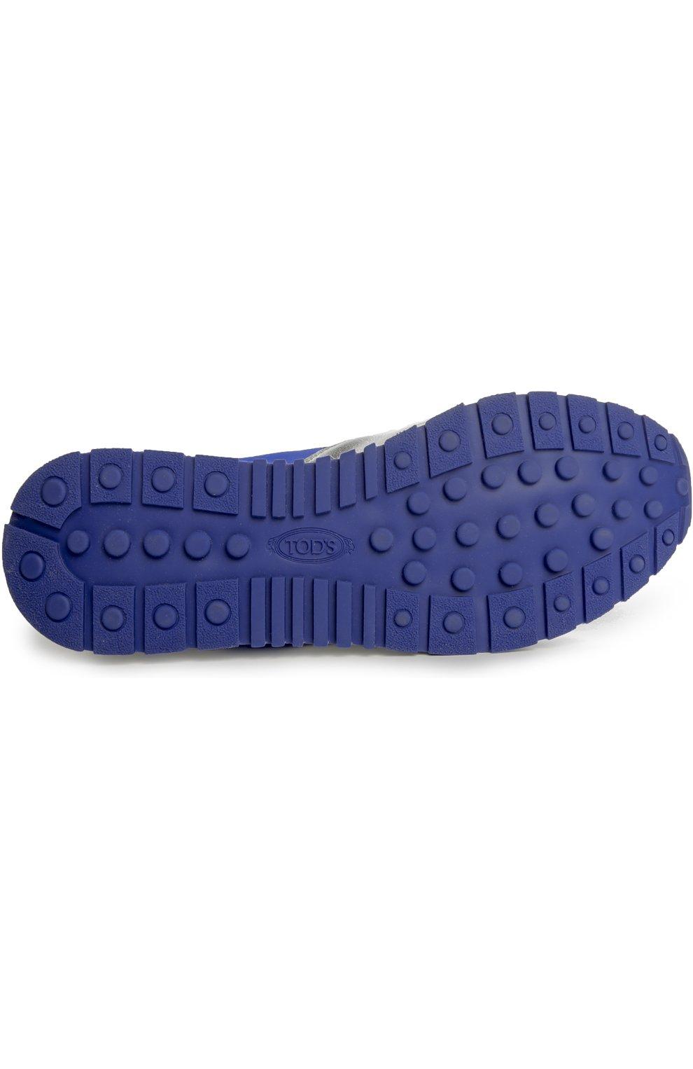 Кроссовки из металлизированной кожи с цветной вставкой | Фото №5