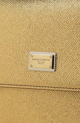 Сумка Sicily medium new из металлизированной кожи | Фото №5