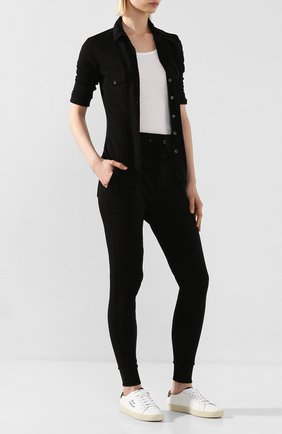 Женская хлопковая рубашка JAMES PERSE черного цвета, арт. WUA3042 | Фото 2