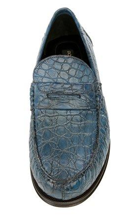 Лоферы из кожи крокодила Genova | Фото №4