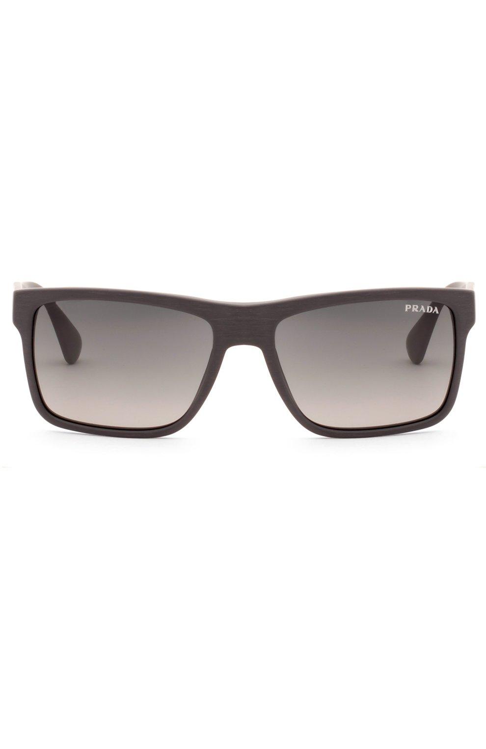 Женские очки солнцезащитные PRADA темно-коричневого цвета, арт. 01SS-TV42D0   Фото 1